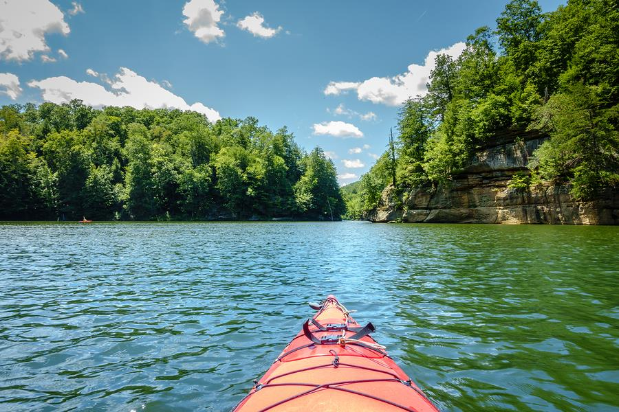 Paddling in the Kentucky River Palisades