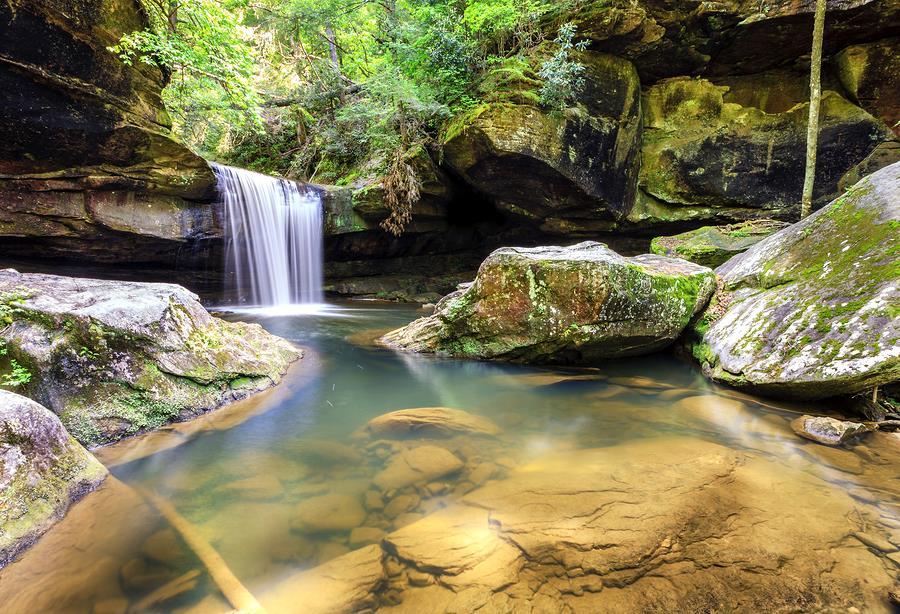Hiking in the Daniel Boone National Forest in Kentucky
